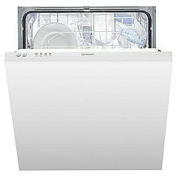 Indesit DIF04B1 Built In, Full Integrated Dishwasher, A+ Energy Rating, White