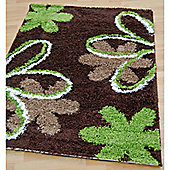 Origin Red Mardi Gras Chocolate / Lime Rug - 150cm x 80cm