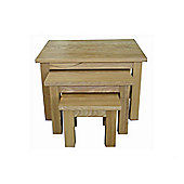 Baumhaus Mobel Oak Nest of 3 Coffee Tables