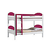 Maximus Bunk Bed 3ft White With Fuschia Details