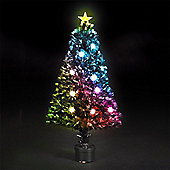 120cm/4ft Fibre Optic Multicoloured Clematis Christmas Tree