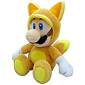 "Official Nintendo Mario Plush Series Stuffed Toy - 9"" Kitsune Fox Luigi"
