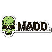 Madd Gear MGP Green Skull Madd Sticker
