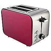 Tesco 2TSSR15 Red 2 Slice Stainless toaster