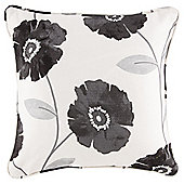 Poppy Filled Cushion 43 x 43cm, Black