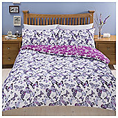 Butterfly Print Duvet Set , - Purple