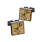 Burnished Wood Stag Cufflinks by Duncan Walton