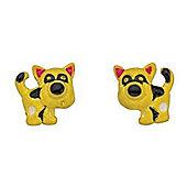 Girl's Yellow Dog Earrings