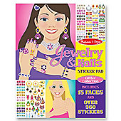 Jewellery And Nails Glitter Sticker Pad - Melissa and Doug