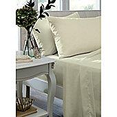 Catherine Lansfield Caramel Flat Sheet - - Cream