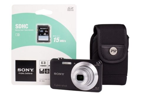 Sony DSC-W710 Black Camera Kit inc 4GB SD Card and Case