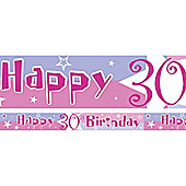 30th Birthday 30th Yard Banner Pink (each)