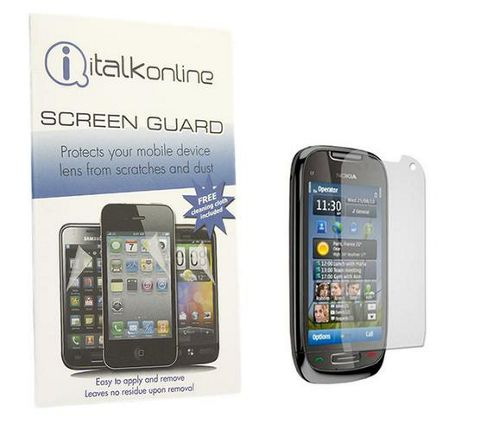 iTALKonline S-Protect LCD Screen Protector and Micro Fibre Cleaning Cloth For - Nokia C7