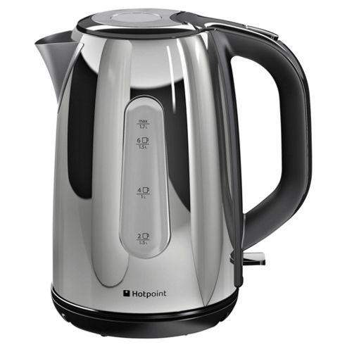 buy hotpoint stainless steel jug kettle 1 7l silver. Black Bedroom Furniture Sets. Home Design Ideas