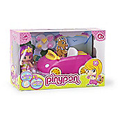 Famosa Doll Pinypon Car, Includes Figure and Accessories