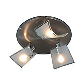 Naeve Leuchten Bow 3 Light Ceiling Light in Steel Blank
