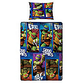 Teenage Mutant Ninja Turtles Single Bed Duvet Cover Set