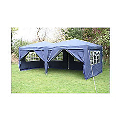 Airwave Pop Up Gazebo Fully Waterproof 6x3m in Blue