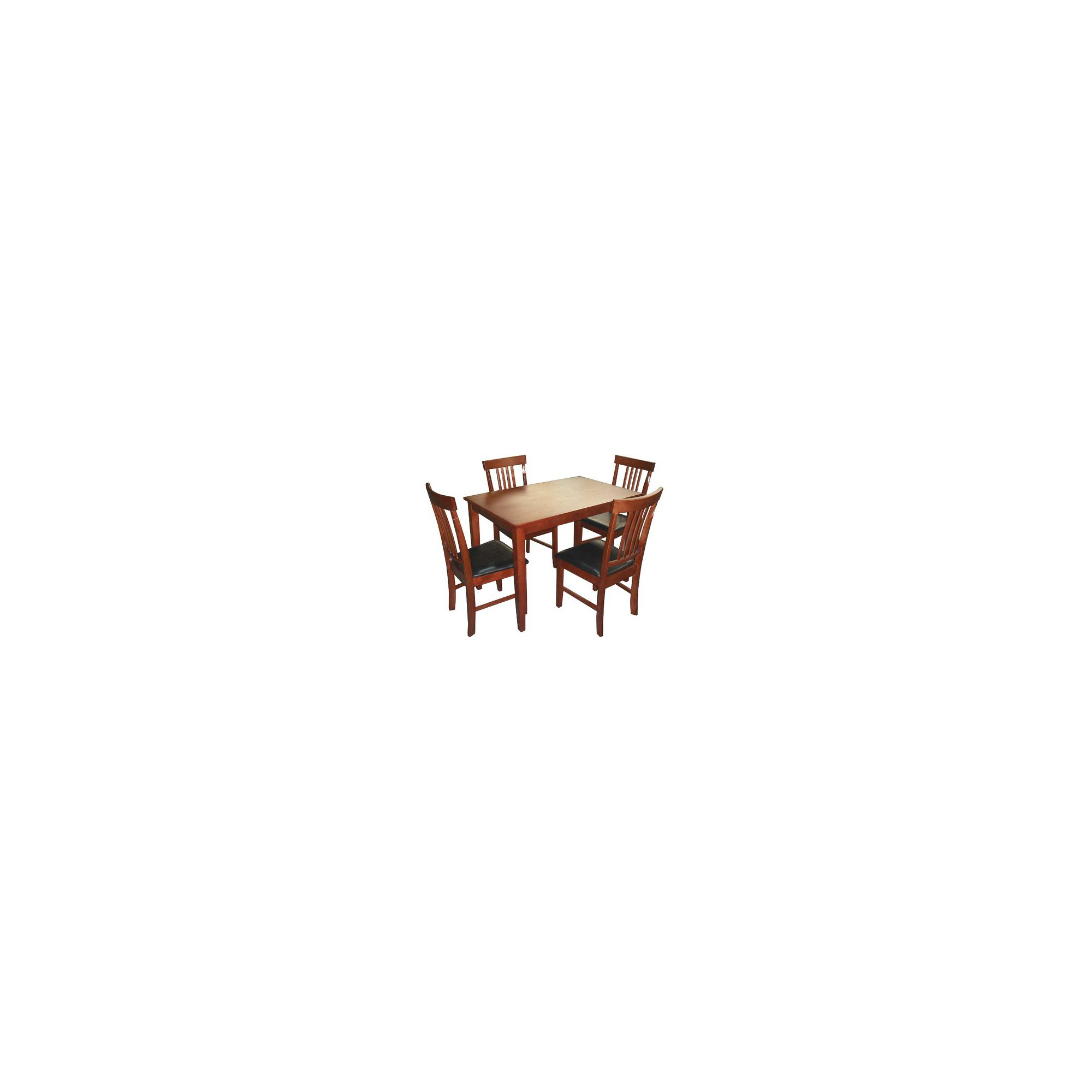 Heartlands Massa 4 Chair Dining Set - Small Table / 4 Chairs - Mahogany at Tesco Direct
