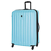 IT Luggage Ultra Strong 4-Wheel Hard Shell Suitcase, Blue Extra Large