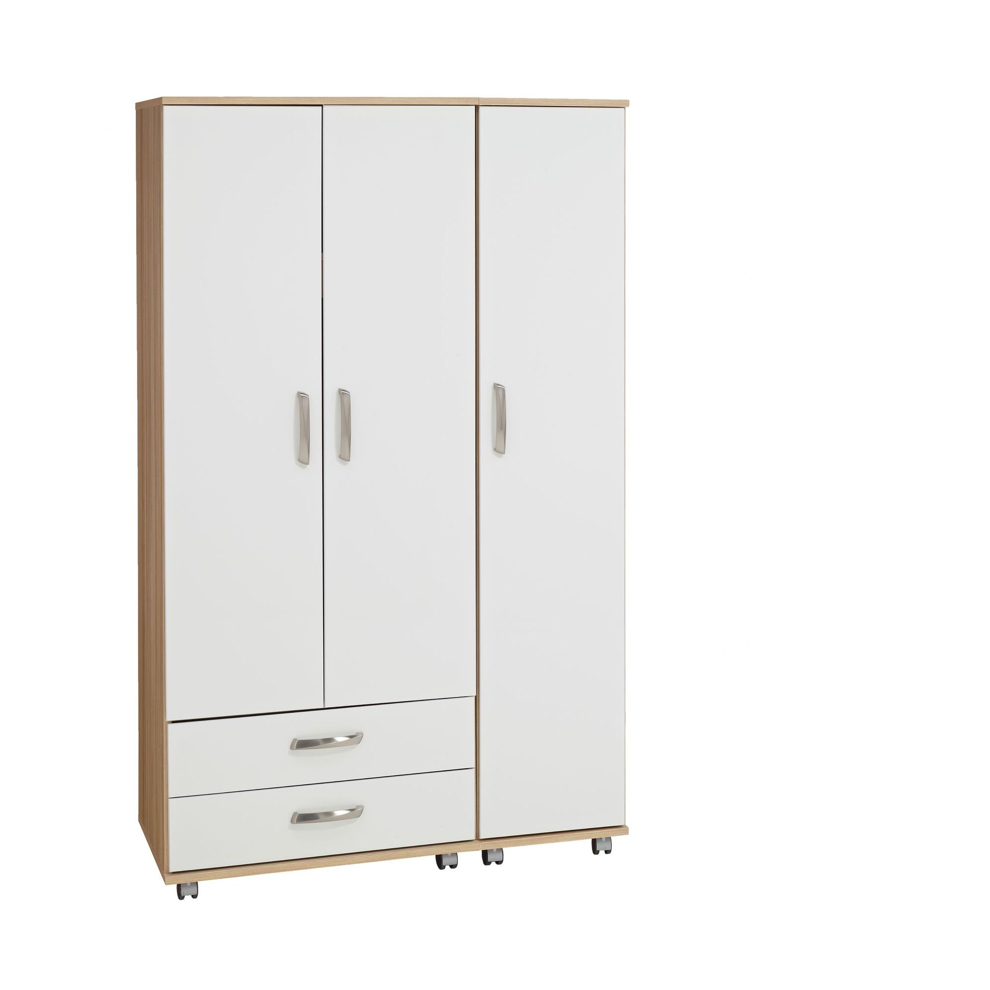 Ideal Furniture Regal 3 Door Wardrobe in white at Tesco Direct