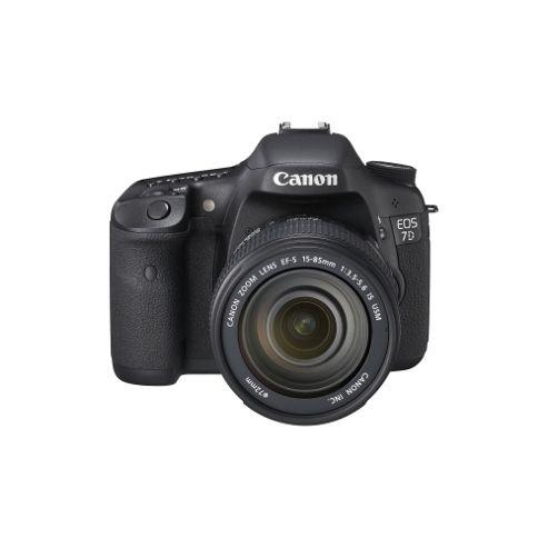 Canon EOS 7D 18 Megapixel Digital SLR Camera (Body with Lens Kit), 18 mm-135 mm, Black, 7.6 cm (3) LCD, 7.5x Optical Zoom, 5184 x 3456 Image, 1920 x