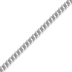 Sterling Silver 5mm Gauge Curb Chain - 26 inch