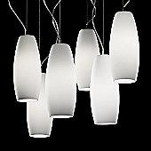 De Majo Peroni Six Light Pendant - Amber Stained