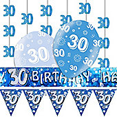 30th Blue Decorating Kit