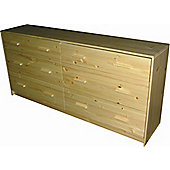 Oestergaard Connie Chest of 6 Drawers - Natural lacquered