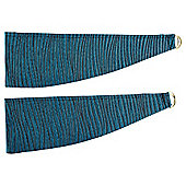 Ripple Pair of Tie Backs 60cm, Teal