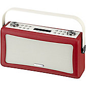 VIEWQUEST HEPBURN DAB/DAB+/FM RADIO WITH BLUETOOTH (RED)