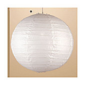 Loxton Lighting Paper Lanterns / Light Pendant in White - 45 cm