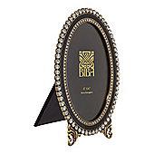 Biba Oval Jewel Photo Frame In Black