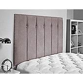 ValuFurniture Jubilee Chenille Fabric Headboard - Silver - Small Double 4ft