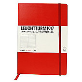 Leuchtturm 1917 Red Medium Notebook Ruled
