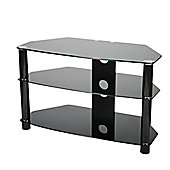 ValuFurniture Brisa 600mm Black Glass TV Stand for up to 32 inch