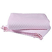Clair de Lune Dimple Rocking Cradle Bedding Quilt & Bumper Set (Pink)