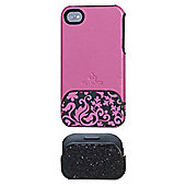 Night and Day iPhone 4 case Pink/Glitter IPGR-ND-PNK1-I4-DB