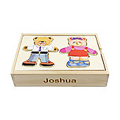 Personalised Dress-Up Bears Wooden Puzzle Toy