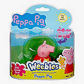 Peppa Pig Weebles Wobbily Figure and Base - Peppa Pig