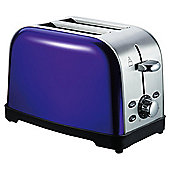 Tesco 2 Slice SS Toaster - Purple