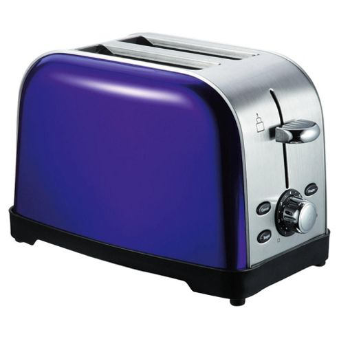 Buy Tesco 2 Slice SS Toaster - Purple from our Toasters range - Tesco