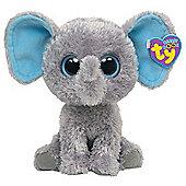 "TY Beanie Boo 6"" Plush - Elephant Blue Ears Peanut"