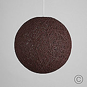 Bjorn 40cm Rattan Ball Ceiling Light Pendant Shade in Brown