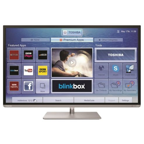 Toshiba 40L6353 40 Inch Smart WiFi Built In Full HD 1080p LED TV With Freeview HD - Silver