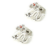 Lucky Dragon Cufflinks with Red Crystal Eyes by Duncan Walton