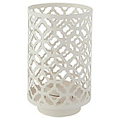 Metal Cut Out Tealight Holder Cream Large