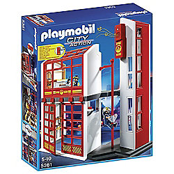 Playmobil 5361 City Action Fire Brigade Station with Alarm