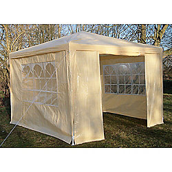 AirWave Party Tent Marquee Fully Waterproof With WindBar - 3x3m in Beige